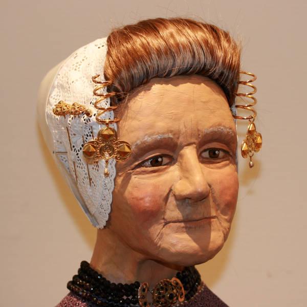 Original region specific folkloric antique Dutch head parure from Zeeland, Holland