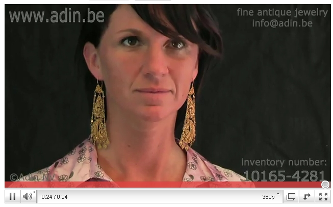 Movie of Absolute top notch gold filigree earrings, unseen high quality