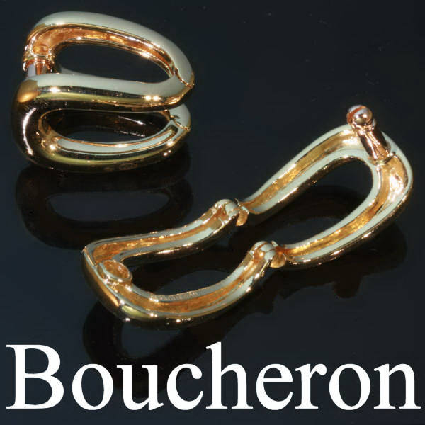 Gold estate cuff links signed Boucheron, made in France