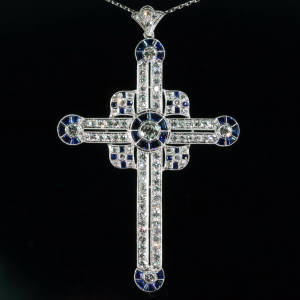Antique jewelry with color blue up to $10,000