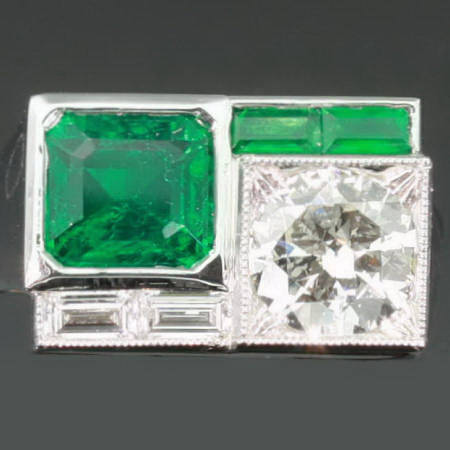 Antique jewelry with color green $10,000 +