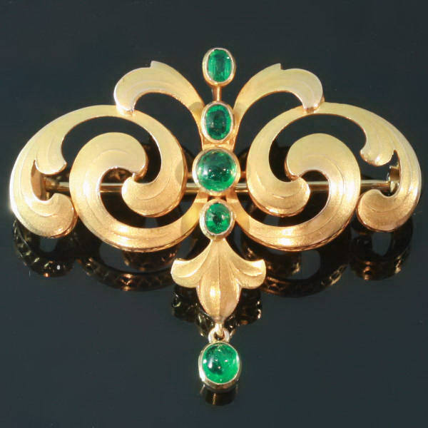 Antique jewelry with color green up to $5,000