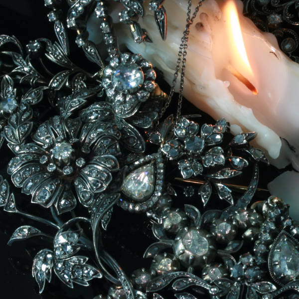 Antique rose cut diamond jewelry by Adin, antique jewelry, Antwerp