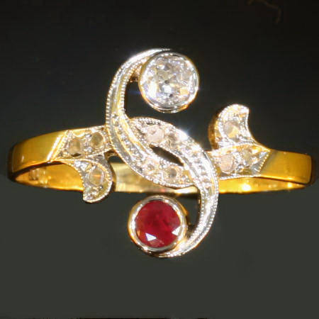 Click here for the complete antique jewelry you and me rings, toi et moi rings collection of Adin Antique Jewelry, Antwerp, Belgium