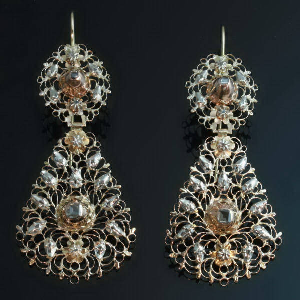 Antique earrings between $2000 and $7000