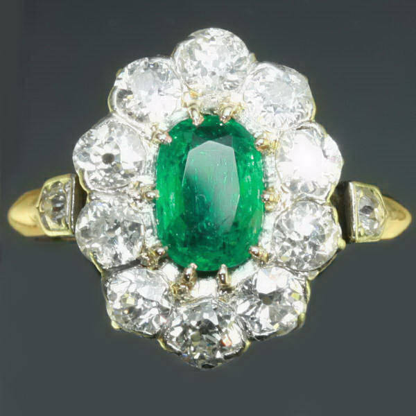Antique jewelry with color green up to $15,000