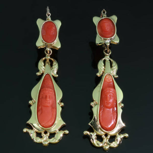 Antique Victorian earrings between $500 and $1500