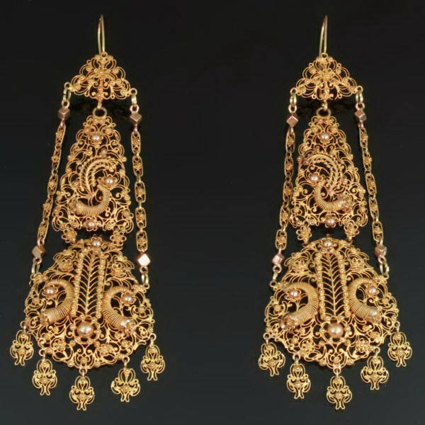Antique earrings between $7000 and $15000