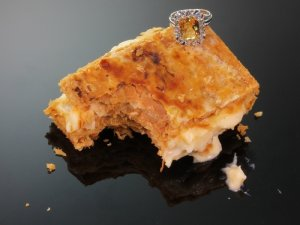 Click here to see the diamond estate ring with big imperial topaz from the antique jewelry collection of www.adin.be