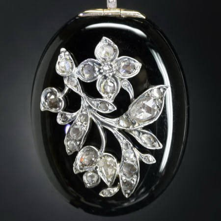 antique and estate pendants with black
