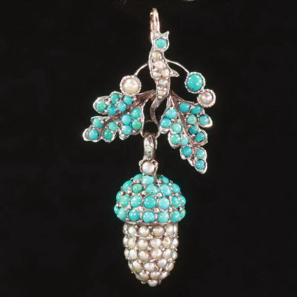 antique and estate pendants with blue