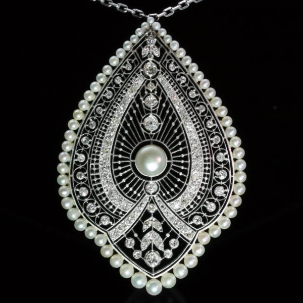 antique and estate pendants with white