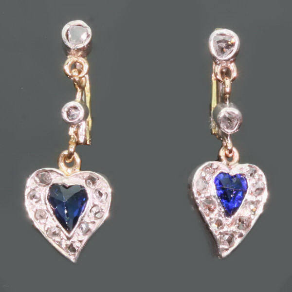 antique and estate earrings with blue