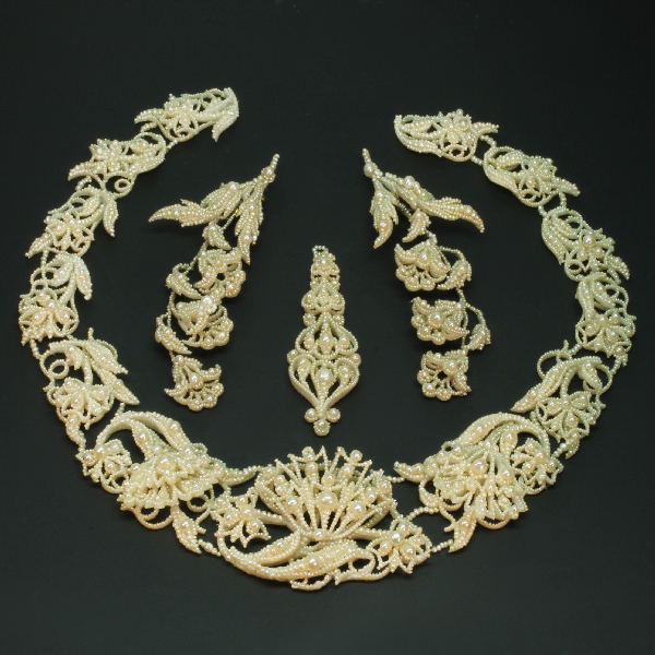 all antique and estate jewelry with white