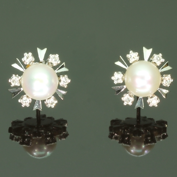 antique and estate earrings with white