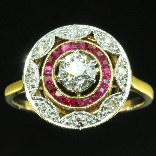 antique and estate rings with red