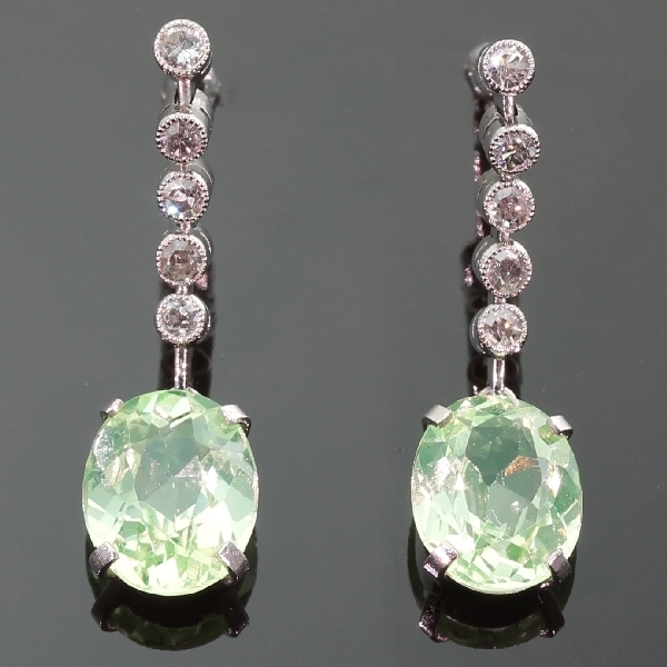 antique and estate earrings with green