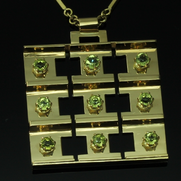 antique and estate pendants with green