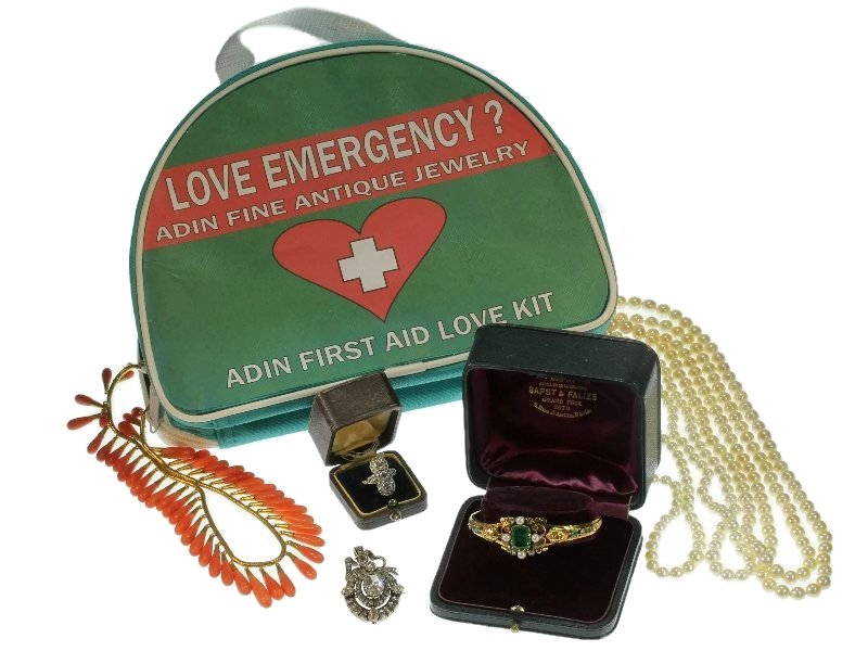 Adin Antique Jewelry Love First Aid Kit