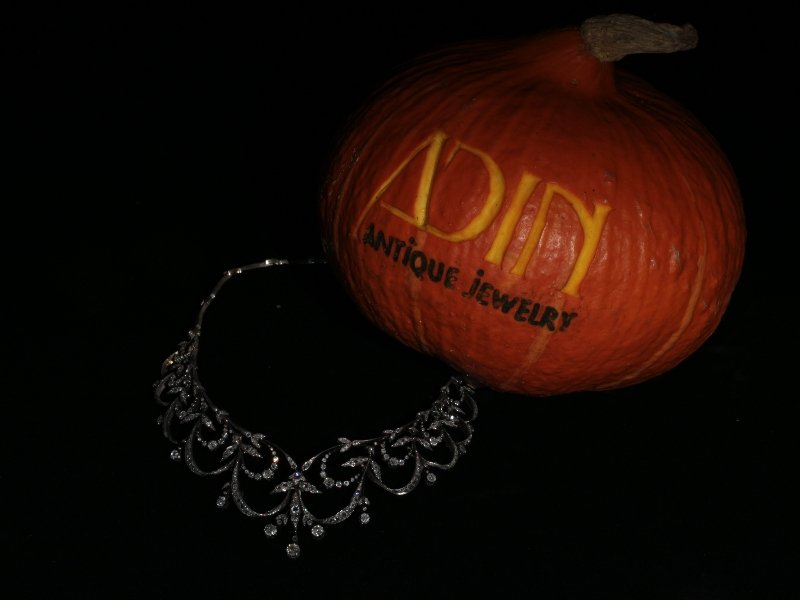 The perfect link between Halloween and Antique Jewelry
