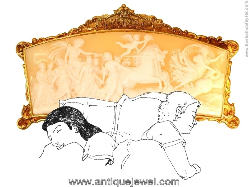 Click the picture to get to see this Superb French Baroque cameo in gold mounting. A true collectors item!