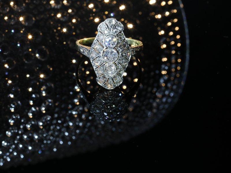 Click the picture to get to see this Genuine Vintage Art Deco diamond engagement ring.