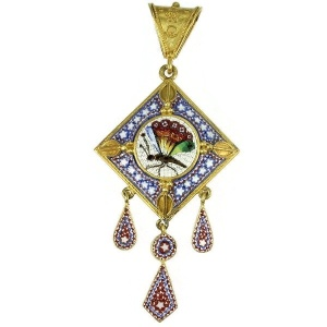 Antique jewelry with micro mosaic