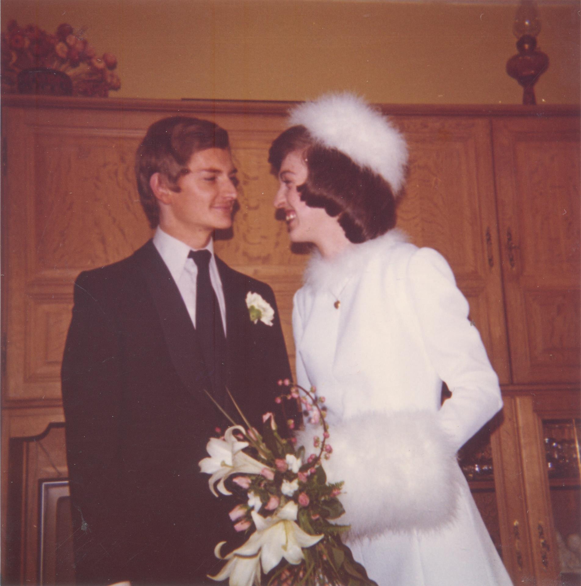 Julia en Guy 45 jaar geleden