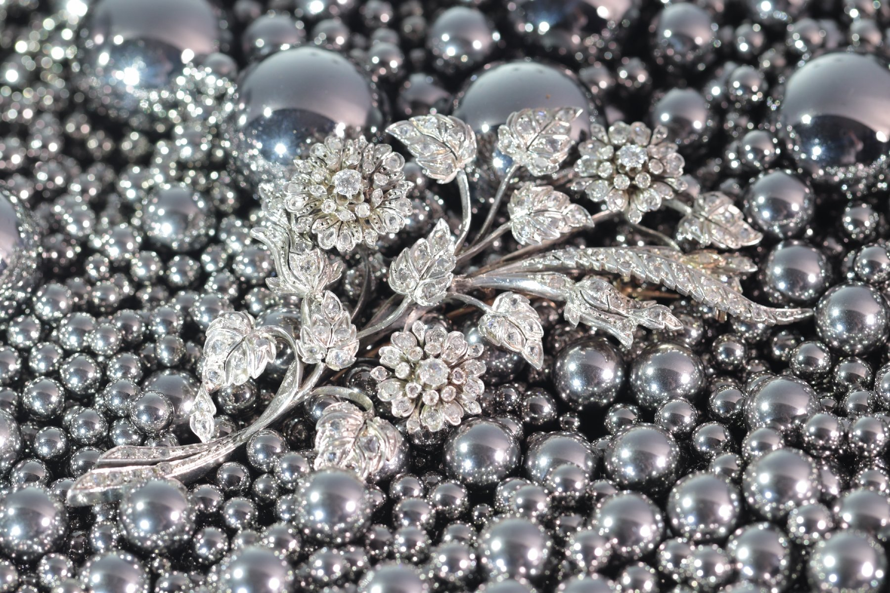 Click the picture to get to see this Antique French diamond branch brooch with 165 diamonds.