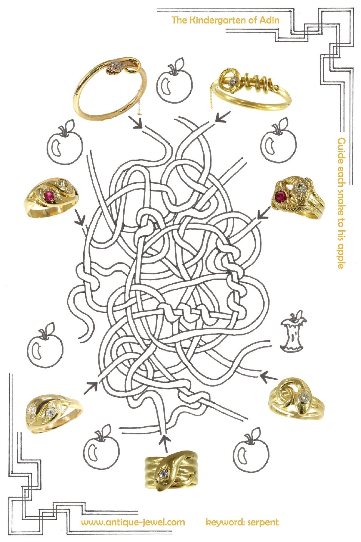 Click picture to get to all our vintage and antique serpent and snake jewellery