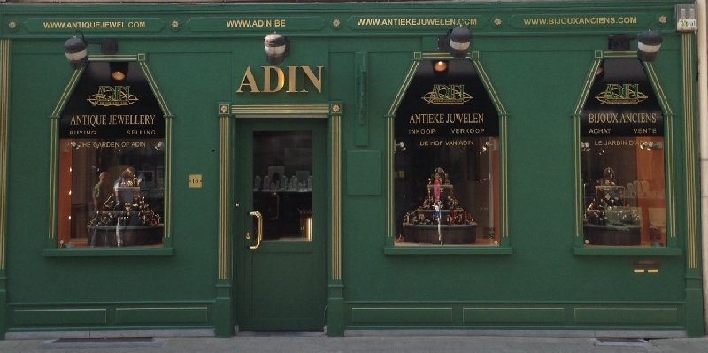 about Adin fine antique jewelry, Antwerp Belgium